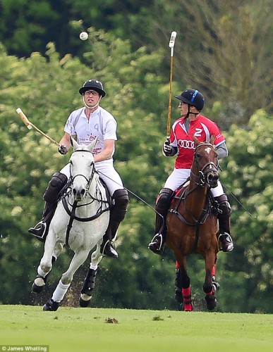 Princes William and Harry. Via dailymail.co.uk Princes William and Harry during a polo match held earlier this year. Via dailymail.co.uk